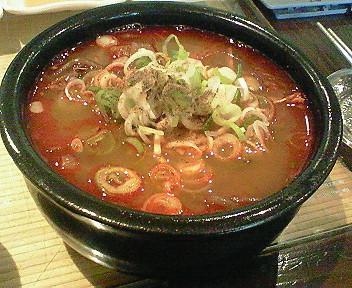 9月3日「ソウル参鶏湯」なのにユッケジャンスープ