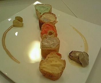 10月7日「Creme de la Creme」の京都味のシュークリーム