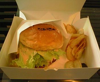 10月8日「スマイルバーガー」のハンバーガー