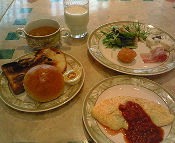 札幌プリンスホテル「ハプナ」の朝ごはん