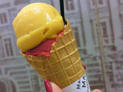 「ピエール・マルコリーニ」のアイスクリーム